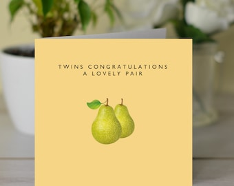 Twins Congratualtions A Lovely Pair