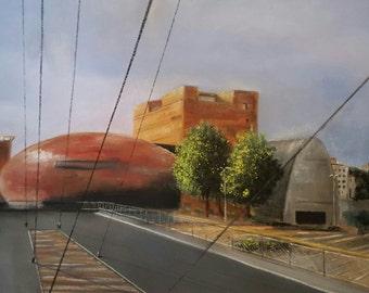 The Theatre of the archipelago - Pastel 23 x 31 cm