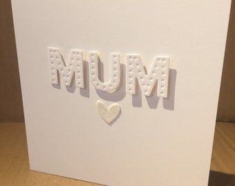 Mothers Day card.Handmade. Mum.