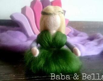 Needle Felted Fairy ~ Handmade ~ Waldorf Nature Doll Decoration