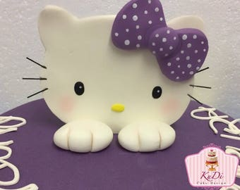 Hello Kitty Cake Topper fondant