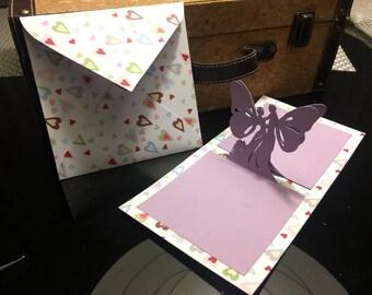 Note 2-fairy fairies pop up card