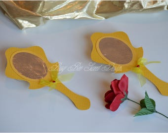 Beauty and the Beast Invitations / Princess Belle Invitations / Mirror Invitations / Beauty and the Beast Party Theme