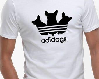 Adidogs  - Fashion funny slogan mens Tshirt