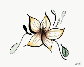 Whimsical Tiger Lily Print