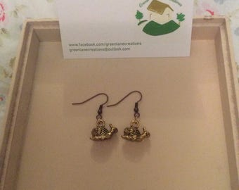 Golden Snail Earrings