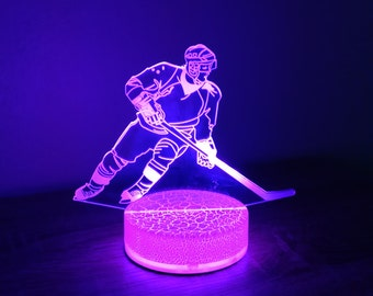 Hockey Player 3D Night Lamp, 3D Night Light Children Light Home Decor Illusion light