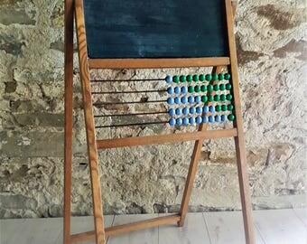 Vintage Mid Century Chalkboard Stand / Yugoslavia 60s