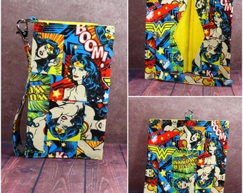 Claire---Wonder Woman inspired cell phone wristlet