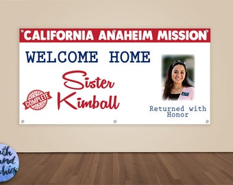 Missionary Banner - Welcome Home Photo Banner - Missionary Homecoming Sign - LDS Missionary Welcome Home Banner - Missionary Homecoming