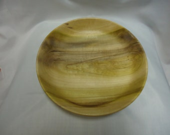 Hand Turned Sycamore Wood Platter