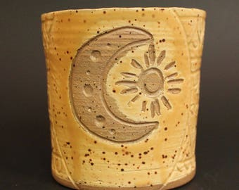 Yellow Moon and Sun Cup