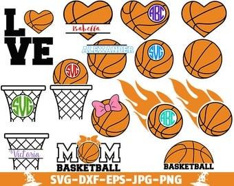 Basketball SVG Cut Files Basketball Love SVG Basketball Ball SVG Basketball Monogram svg cut files svg files Basketball Mom Clipart