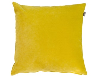 HOOK & EYE - velvet cushion Vito citrine yellow