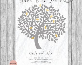 Save The Our Date Tree Cards Invites Modern 2017 Custom Personalized A5 A6