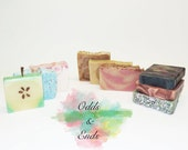 Odds + Ends | Grab Bag | Soap by the Pound | Mystery Bag | Handcrafted | Bargain Soap | Handmade | Low Price | Free Shipping | Cold Process