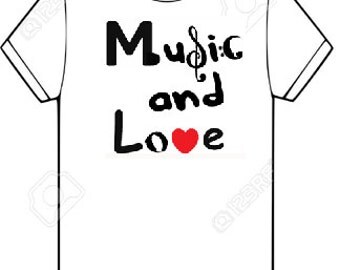Music and Love tshirt