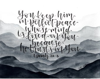 Isaiah 26:3 Print