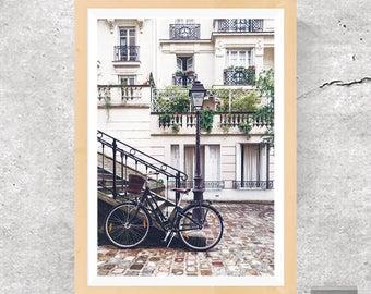 Paris Print, Paris Poster, Paris Wall Art, Retro Art, Retro Decor, Paris Art, Black and White, Paris Photography, Paris, Printable Download