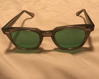 1960's Horn Rimmed American Optical safety Glasses