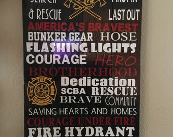 Fire Fighter Subway Sign