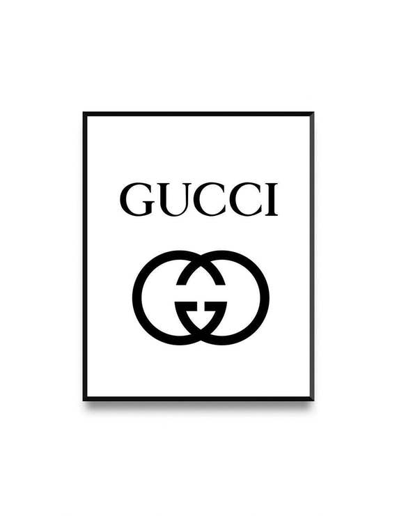 gucci logo. gucci print, fashion illustration, logo printable, logo, wall art, print