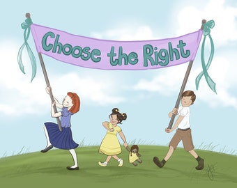 LDS Primary 2017 - CTR Banner - Choose the Right - Art Print, Printable, LDS art