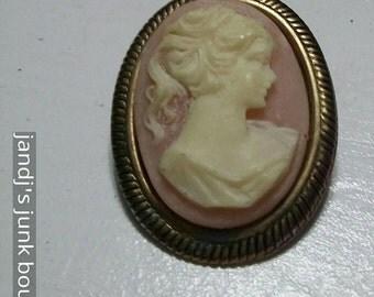 Cameo vintage brooch