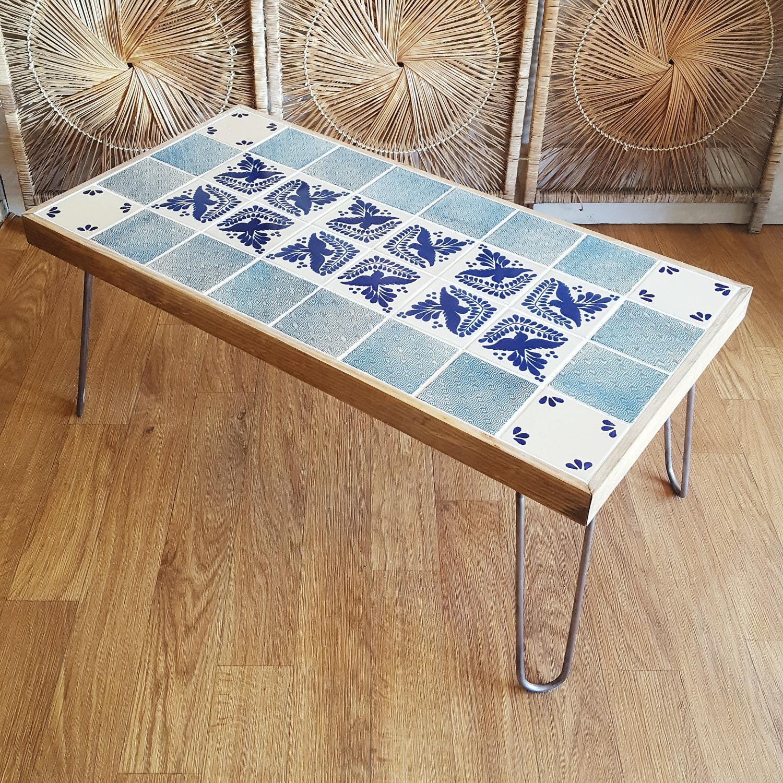 Bohemian Modern Talavera Tile Coffee Table