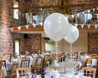 """Giant White Balloons Wedding Party 36"""" Event Birthday Decor Venue Set up Centerpiece Oval"""