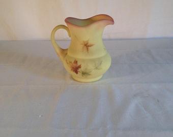 Fenton Burmese Small yellow milk jug