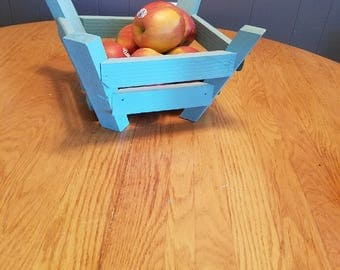 wood fruit basket