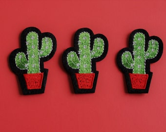 Embroidered Cactus Patch