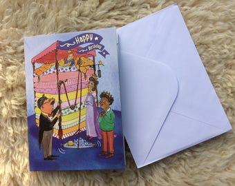 Princess & the Pea Birthday card