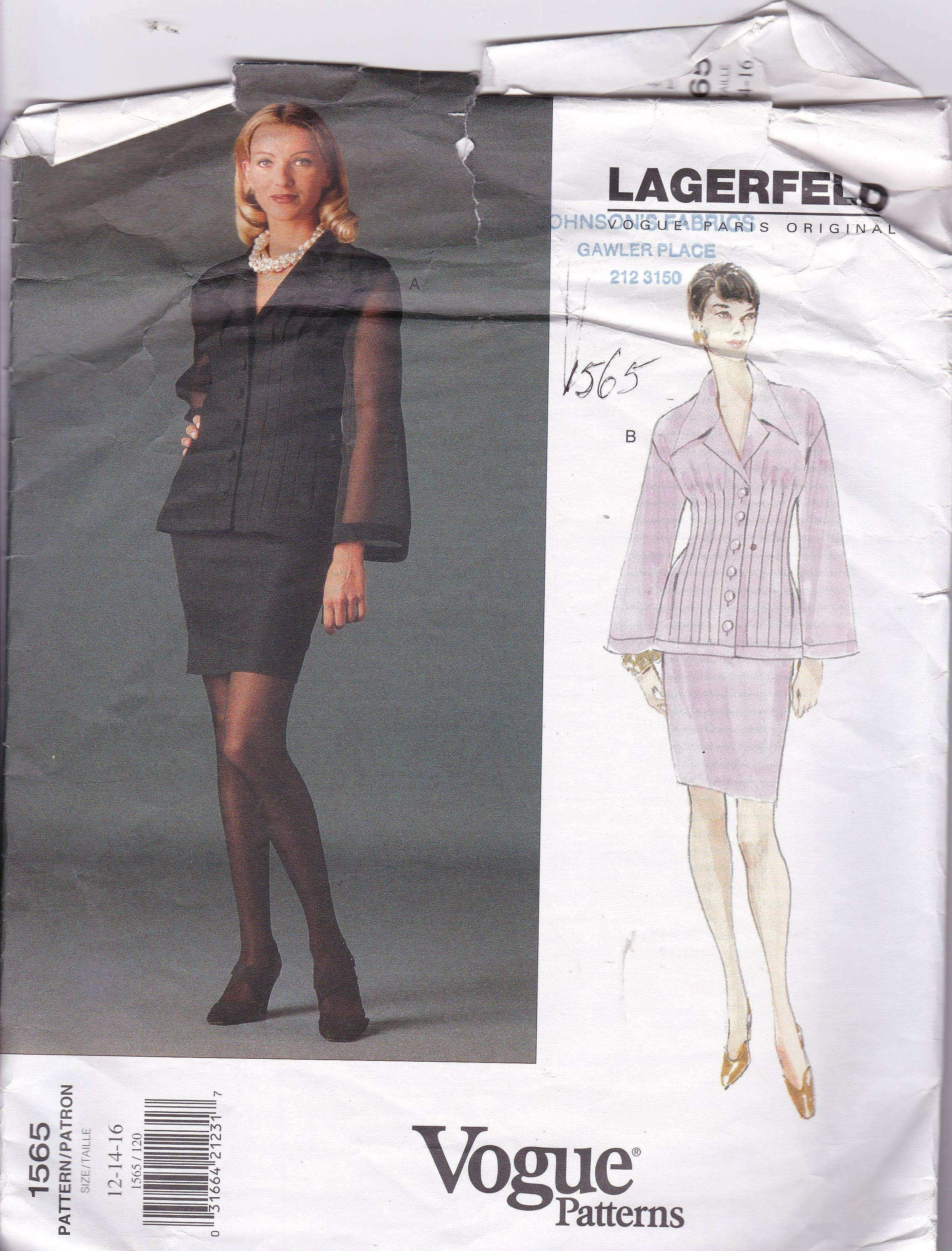 Sewing patterns for women vogue designer pattern lagerfeld high sold by patternsfromoz jeuxipadfo Images