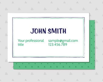 Printable Fun Triangle Business Card
