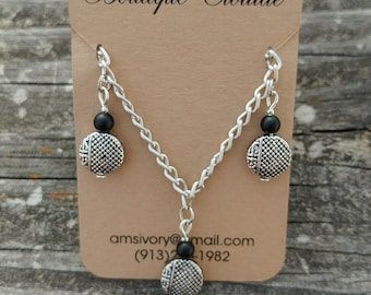 Silver Chain Accent Necklace