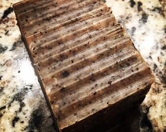 Organic Cinnamon Leaf Coffee Scrub Soap