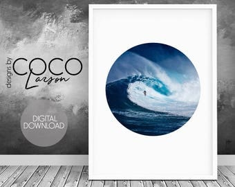 Surf style, surfing print, oceanic art, surf art, surf decor, surfboard print, ocean water print, waves surfing, surfer poster, wall art