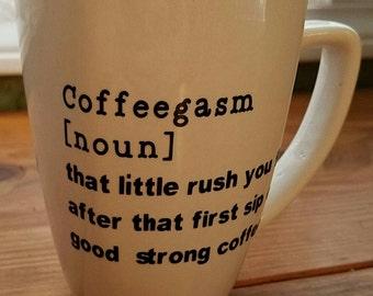 Funny Coffee Mug - 12oz (Coffeegasm)