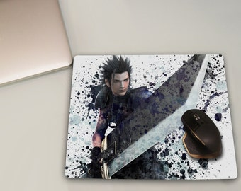Zack Fair Mousepad,Final Fantasy Watercolor, Gaming Mouse pad, Game Mouse pad, Play mat, Final Fantasy VII, XV, VIII