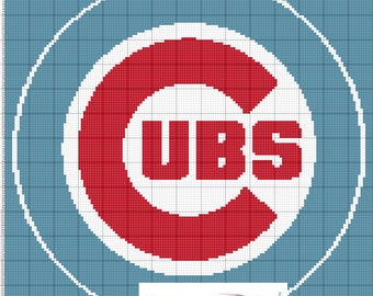 GRAPH PATTERN Chicago Cubs Crochet Blanket