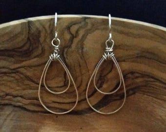 Teardrop Earrings - Gold or Silver