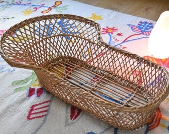 Wicker basket weighs former baby