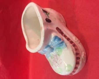 Ceramic baby shoe