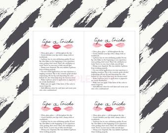 LipSense - Tips & Tricks Printable Info Sheets