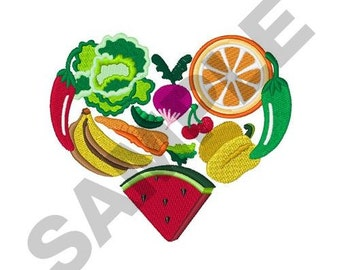 Heart Healthy Foods - Machine Embroidery Design