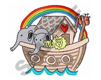 Noah's Ark - Machine Embroidery Design