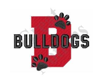 B Bulldogs - Machine Embroidery Design