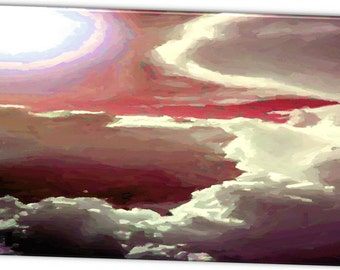 "Limited Edition ""Red Night"" Artistic Photography Canvas Print - 10% of Proceeds for Charity"